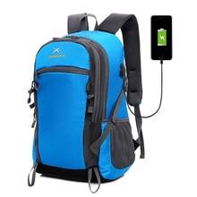 Рюкзак Легкая сумка для путешествий Многоцелевой рюкзак Модный треккинг Daypack с USB-портом для зарядки