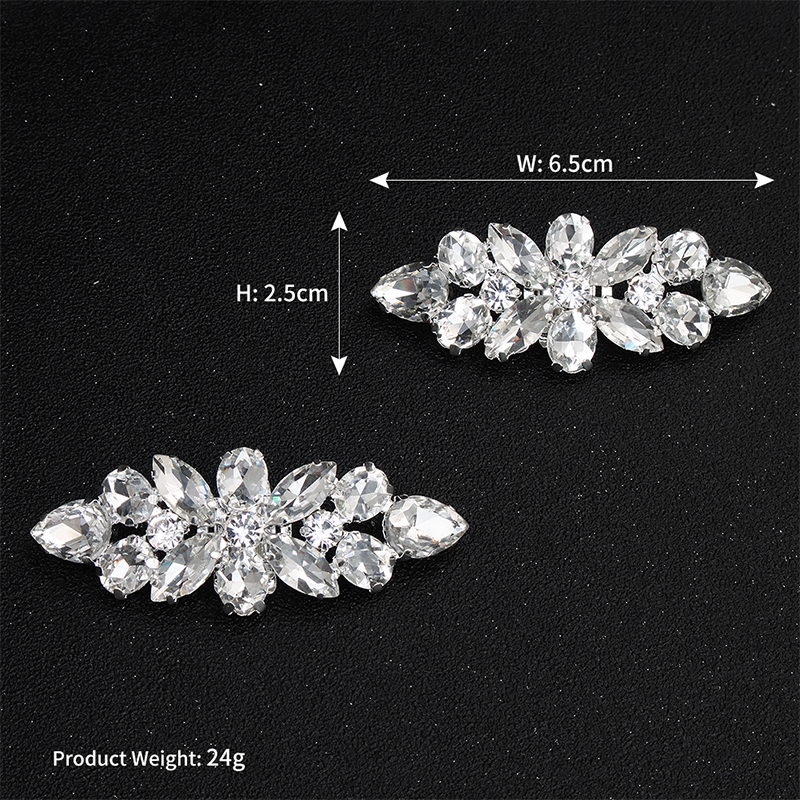 Shiny Bridal Wedding Shoes Clips Crystal Rhinestone Decor Accessories Newes WH