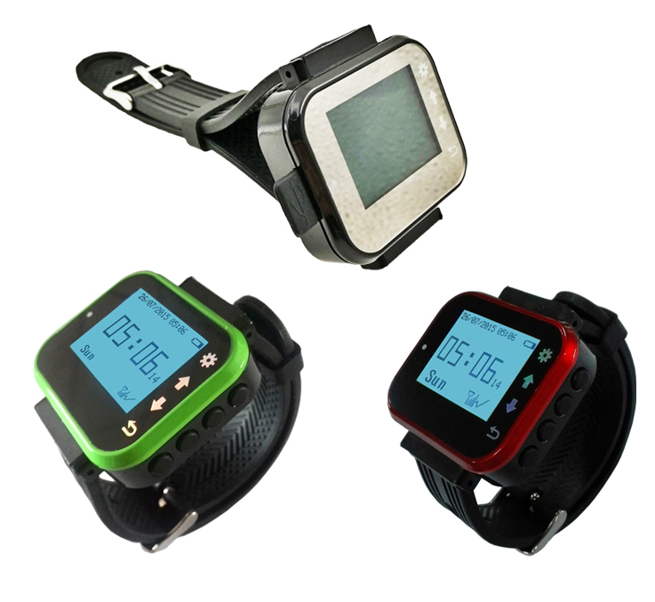 Ycall Restaurant calling watch receiver for waiter use K 300plus show 3 number one time