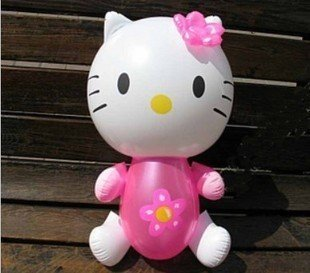 36 PCS Hello kitty PVC Inflatable toys for children games Kids birthday gifts, air-filled KT CAT Height 32cm