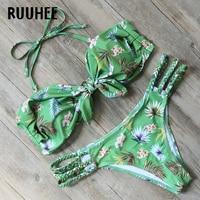 RUUHEE Brand Bikini Swimwear Women Swimsuit 2017 Bandage Bathing Suit Beachwear Push Up Maillot De Bain