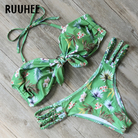 RUUHEE Brand Bikini Swimwear Women Swimsuit 2017 Bandage Bathing Suit Beachwear Push Up Maillot De Bain
