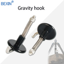 2pcs High quality 3/8 spring Metal gravity tripod hook for SIRUI BENRO Camera