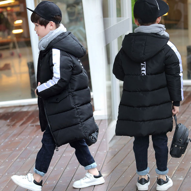 Cotton Long Version Hooded Jacket for Newborns Girl Boy Autumn Winter Overalls Coats Children's Clothing Cloth High Quality 1-9T new 2017 russia winter boys clothing warm jacket for kids thick coats high quality overalls for boy down
