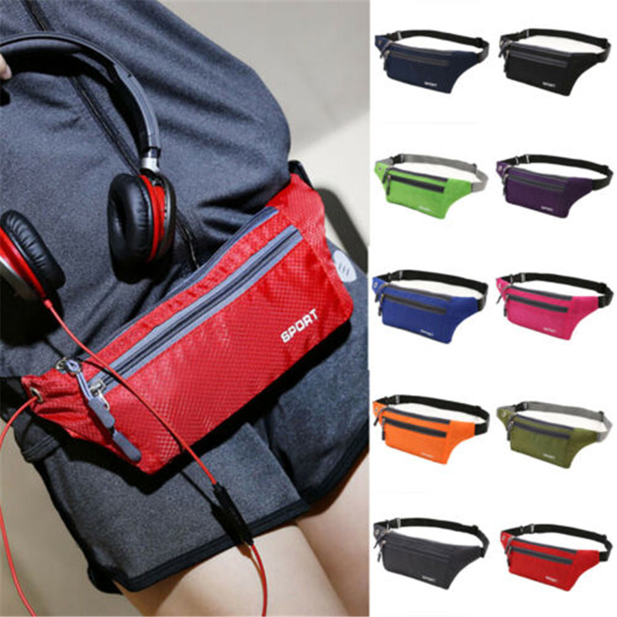 2019 Brand New Style Sports Running Bum Bag Fanny Pack Travel Waist Bags Phone Zip Belt Pouch Wallet