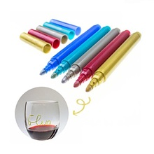 Wedding & Event Vino Marker Metallic Wine Glass Pens DIY Your Cup or Mark 2pcs