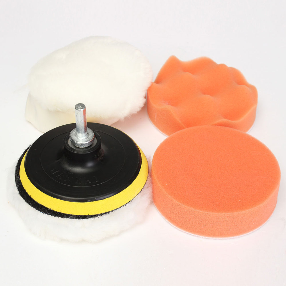 6pcs 4 inch car polisher polishing polish buffer clean waxing pads set wholesale china