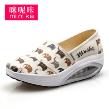 MINIKA Brand 2017 Cheap Autum Women Flats Canvas Espadrilles Platform Slipony Female Tenis Teminino Walking Krasovki GG Shoes(China (Mainland))