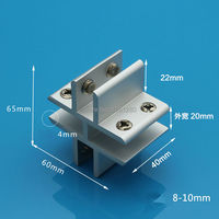 Free Shipping Aluminum Glass Clamp Window Clamp Folder Shelf Connector Furniture Hardware Fitting Diy Handmade