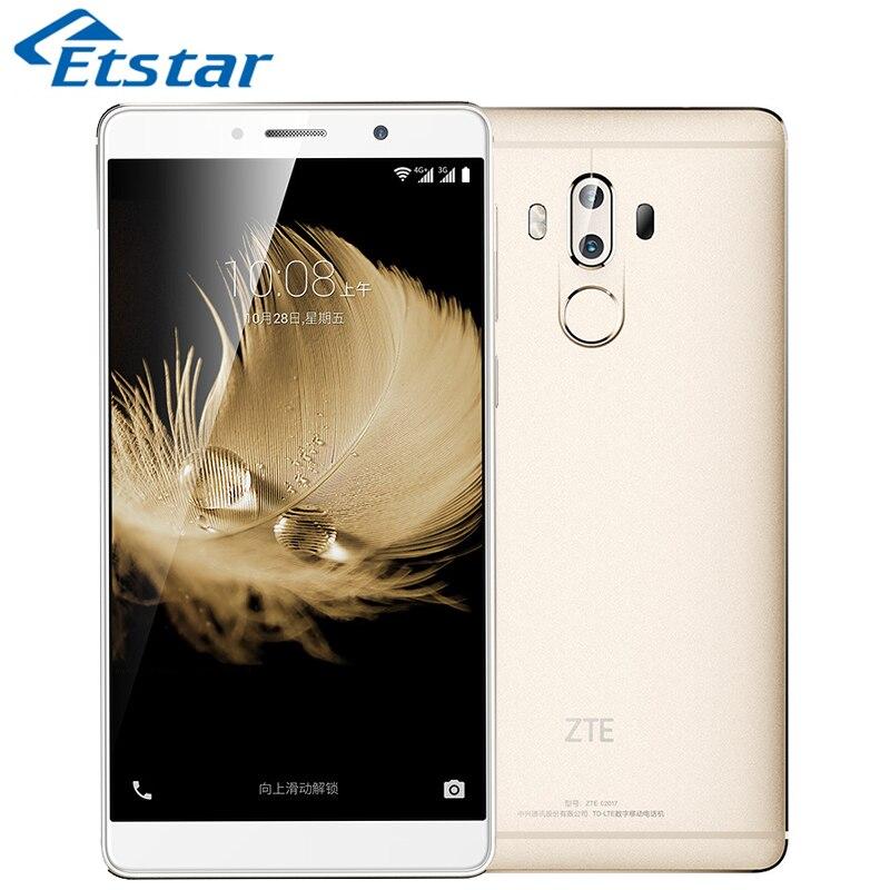 Цена за Оригинал ZTE Axon 7 Макс 6.0 Дюймов 4 ГБ Мобильный Телефон Snapdragon 625 Окта основные 64 ГБ ROM Dual 13.0MP Задняя Камера 4100 мАч Батареи 3D