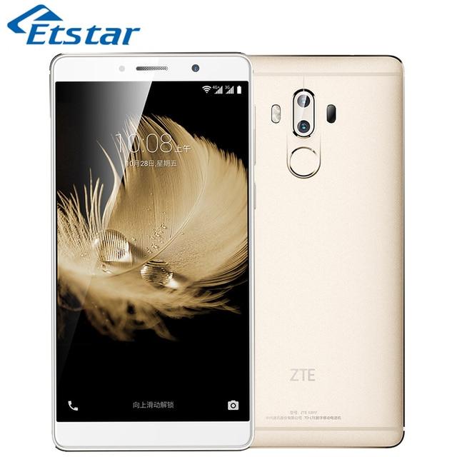 Original ZTE Axon 7 Max 6.0 Inch 4GB Mobile Phone Snapdragon 625 Octa Core 64GB ROM Dual 13.0MP Rear Camera 4100mAh Battery 3D