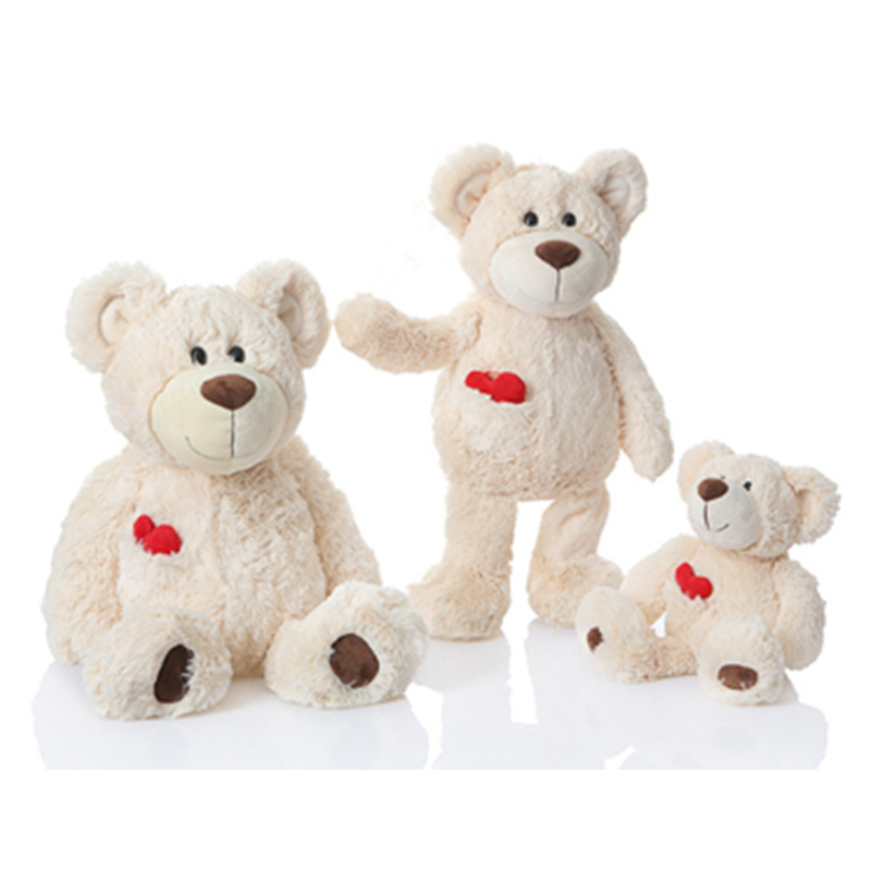 A Family Group Teddy Bears Plush Toy Stuffed Animals White Teddy Bear with Pocket Heart Parent Child Bears Soft Toys Gifts fancytrader biggest in the world pluch bear toys real jumbo 134 340cm huge giant plush stuffed bear 2 sizes ft90451