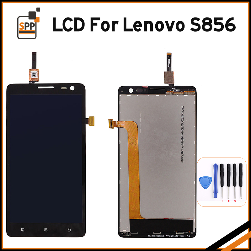 100% New Tested Touch Screen pantalla for Lenovo S856 S 856 LCD Display Digitizer Glass Assembly Repair Black 5.5+Tool white black original lcd for apple ipad mini 4 lcd display touch screen digitizer glass bezel complete assembly pantalla repair