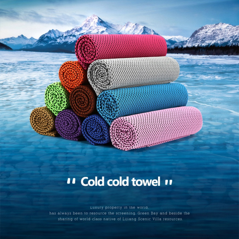 1 шт. купальники охлаждающее полотенце ледяной прочный для бега, спортзала Полотенца коврик для отдыха мгновенное охлаждение Спорт на открытом воздухе Полотенца