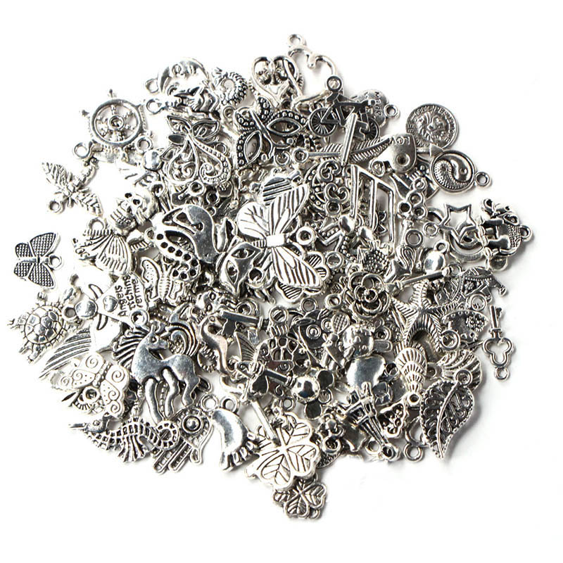1 Pack/lot Mixed Antique Silver Color Anchor Animal Charms Pendants For Bracelet Necklace DIY Jewelry Making Finding Accessories(China)