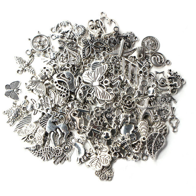 1 Pack/lot Mixed Antique Silver Color Anchor Animal Charms Pendants for Bracelet Necklace DIY Jewelry Making Finding Accessories