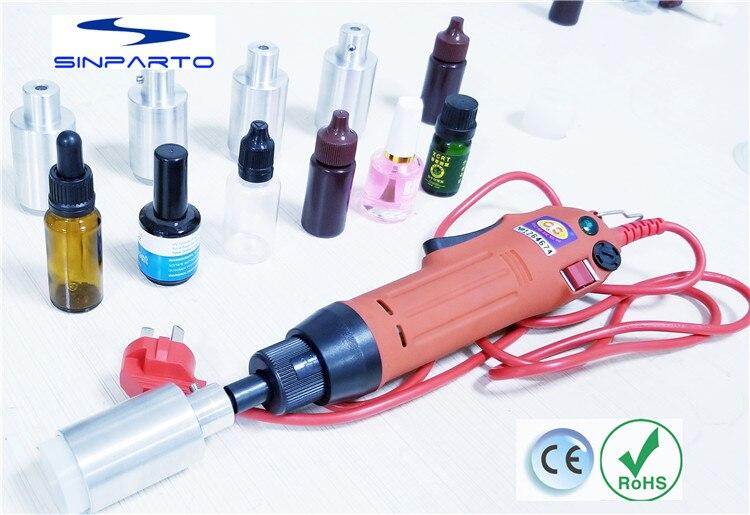 Manuel Électrique eliquid Plafonnement Machine pour bouchon à vis, vis capsuleuse bouteille en plastique machine de capsulage bouchon d'huile essentielle capsuleuse