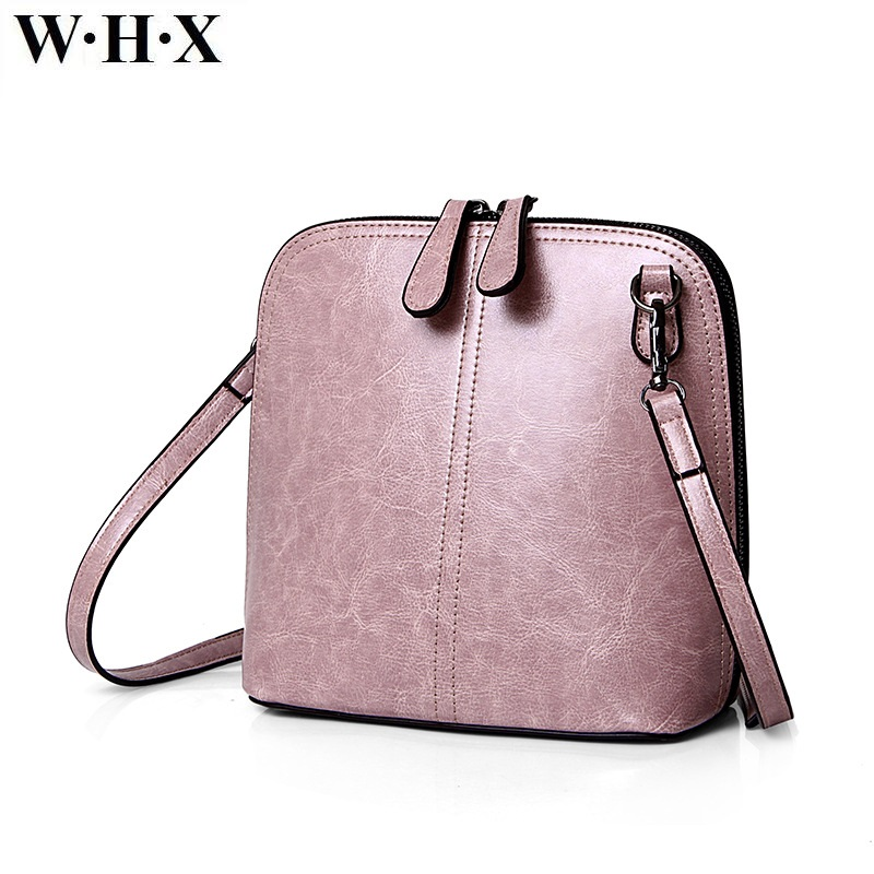 WHX Handbag Women shell Bags Messenger Bag Light Pink Latest Design Fashion Casual Female Shoulder Crossbody Bag Pu Leather New whx geometric shape women messenger bag gray fashion handbag for female purse shoulder satchel crossbody bags new geometry style