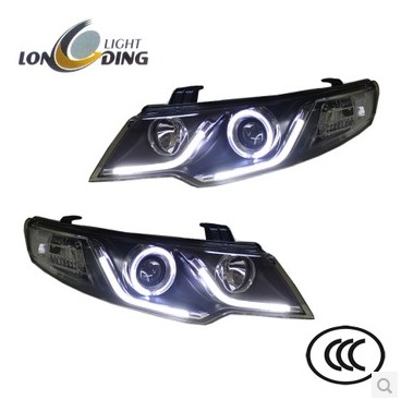 High quality car styling case for kia forte 2009-2012 headlights  led headlight drl lens double beam