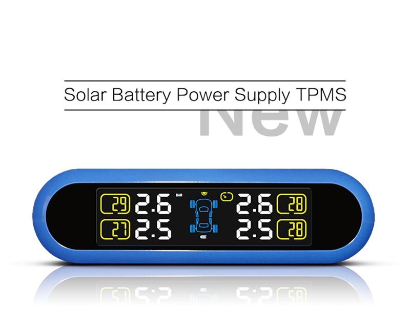 ФОТО Solar Energy Wireless Tire Pressure Temperature Monitoring System  Real-time Intelligent TPMS External Sensor