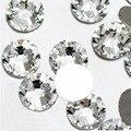 Супер Дело Блестящий Ясно White Crystal ss3-ss50 ВСЕ РАЗМЕР номера исправлениях Стразовая Стразы 3D Nail Art Декорация Flatback