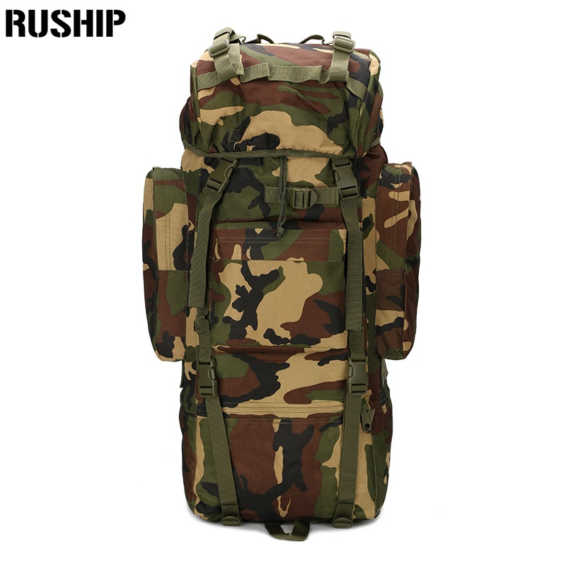 65L Military Large Backpack 800D Waterproof Nylon Multi-function Camouflage Pack Rucksack Tactics Bag Molle System proof cover camouflage hydration pack multi functional camouflage tactics backpack military hydration packs molle backpack s56
