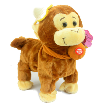 Robot Animal Toys Talking Monkey Smart New Rc Pet Robot For Children Walking Toys Robo Pet Electronic Intelligent Animal Plush children electronic pet robot dog sounds walk dancing boy girl robot toy toys for children electronic pet lol talking toys