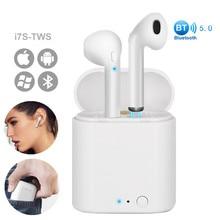 Беспроводные Bluetooth наушники i7s TWS мини Air Pods стерео вкладыши гарнитура с зарядным устройством микрофон для iPhone Xiaomi все смартфоны
