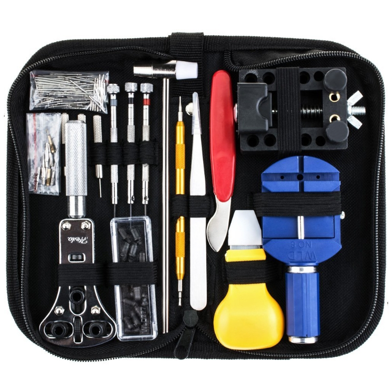 цена на Free delivery 147 Pcs Watch Repair Tool Kit Case Opener Link Spring Bar Remover Watchmaker Tool