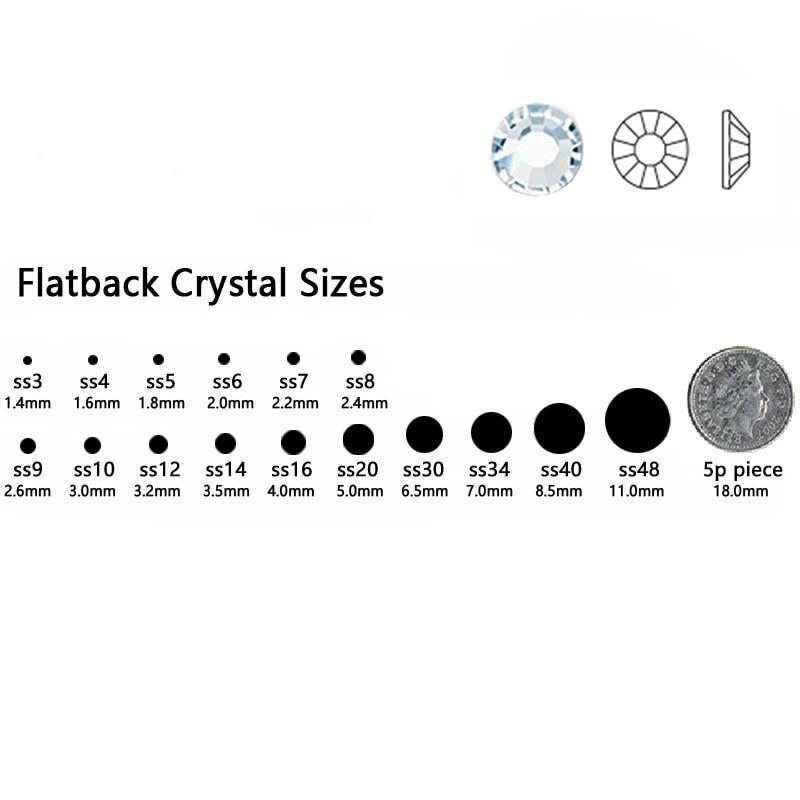 2058HF Sapphire Light All Sizefix Rhinestone Flatback DIY Rroba - Arte, zanate dhe qepje - Foto 4