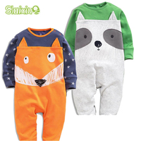 2Pcs Lot Baby Body Suits Cute Animal Pattern Newborn Jumpsuit Baby Rompers Boy S Girl S