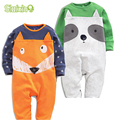 2Pcs/lot Cute Animal Pattern Baby Body Suits Newborn Infant Clothing Baby Boy's Girl's Rompers Set Suit For 3-24 Month