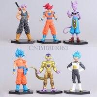 12-14 CM Anime Dragon Ball Z Risurrezione F Freezer Super Saiyan Goku Saggezza Vegeta Modello Action Figure Da Collezione giocattoli per bambini
