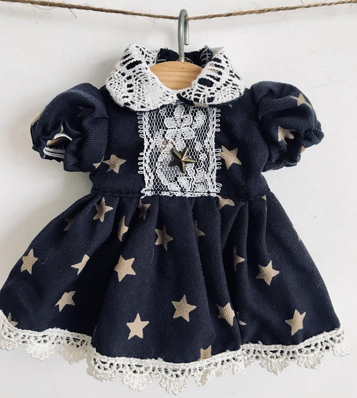 New 1/4 1/6 BJD MSD YOSD Doll Clothes Lovely Lae Navy Blue Stars Dress bjd doll clothes bjd dress set bjd suit 1 6 1 4 blyth yosd clothes