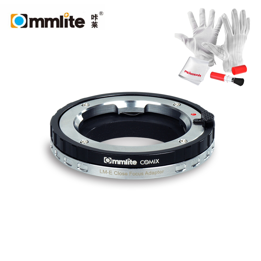 Commlite Macro Close-focus Lens Mount Adapter LM-E for Leica/Zeiss/Voigtlander M Series Lens to for Sony E-Mount Camera