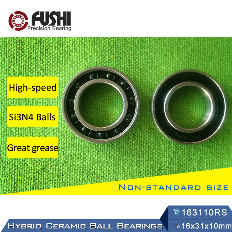 163110 Hybrid Ceramic Bearing 16x31x10 mm ABEC-1 (1 PC) Bicycle Bottom Brackets & Spares 163110RS Si3N4 Ball Bearings 163110-2RS 7805 2rsv 7805 angular contact ball bearing 25x37x7 mm for fsa mega exo raceface shimano token bb70 raceface bottom brackets