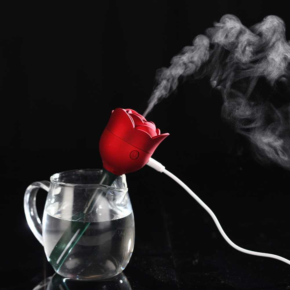 MEXI Mini Rose Flower USB Humidifier Air Purifier Aroma Diffuser Atomizer Office Home