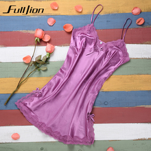 Ladies Sexy Silk Satin Night Dress Sleeveless Nighties V-neck Nightgown Pijamas Nightdress Lace Sleepwear Nightwear For Women ladies sexy silk sleepwear satin nightgown v neck nightdress slip nighties summer nightdress lace night gown for women chest pad