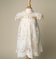ヴィンテージ女の赤ちゃん洗礼洗礼ドレス用女の子男の子幼児服ハーフスリーブ卸売ベビーブティック