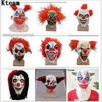 Free Shipping Halloween Party Cosplay Joker Face Mask Clown Costume Mask Creepy Evil Scary Halloween Clown Mask Full Head Jester