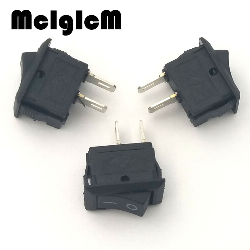 20pcs/lot Mini Boat Rocker Switch SPST Snap in AC 250V 3A / 125V 6A 2 Pin ON/OFF 10*15mm Free shipping 5pcs black mini round 3 pin spdt on off rocker switch snap in s018y high quality