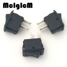 H011-05 20pcs/lot SPST Snap in Mini Boat Rocker Switch AC 250V 3A 2 Pin ON/OFF Free shipping