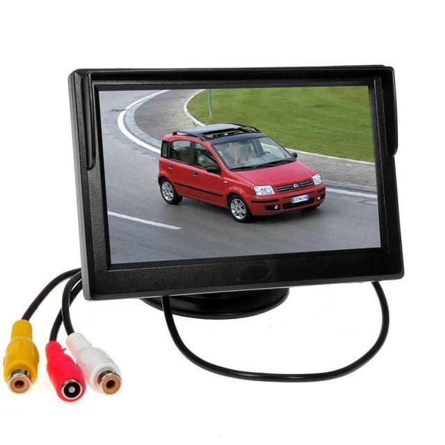5 Pulgadas de ALTA DEFINICIÓN TFT LCD de la Cámara Del Monitor 2 de Entrada de Vídeo para Cámara de Reserva Retrovisor Del Coche/Coche DVD/VCD/GPS/Otros Dispositivos de Vídeo