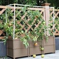 DIY sadzenia Balkon plastikowe pudełko na garnki duże ogrodnictwo doniczka i ogród warzywny dla rodziny