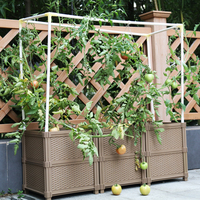 DIY Balcony plastic planting box for flower pot and garden vegetable pots large gardening for family