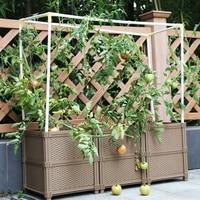 FAI DA TE Balcone di plastica piantare box per vaso di fiori e giardino vasi di verdure grande giardinaggio per famiglie