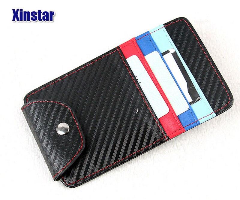Carbon fiber Business card holder car glass clip car sunshade ...