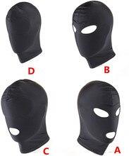 SM Sex Toy Safe Bandage Hood Head Cover Breathable Sponge Eye Mask Asphyxiation Bondage Couples Flirting Adult Games Products