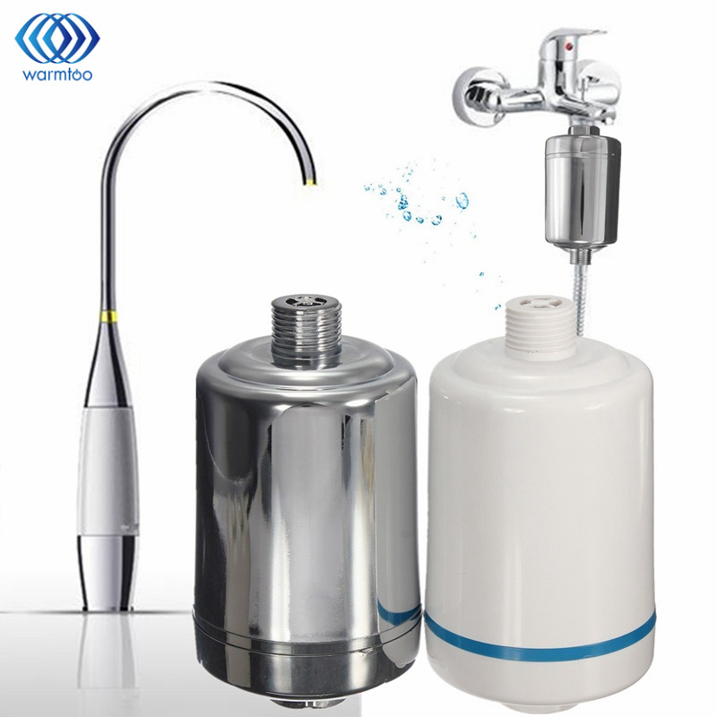 Chlorine Removing Shower Filte Faucet Water Purifier Softener Remove Water Purifier Chrome Fit For Kitchen Bathroom mini kitchen water filter treatment softener removal chlorine purifying impurity contaminants bathroom kitchen faucet purifier
