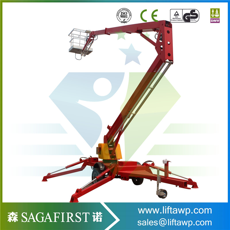 2019 Chinese Towable Spider Boom Lift Can Be Used In Tight Space